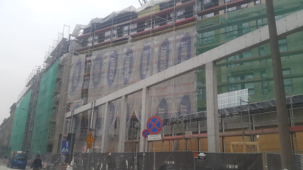 Investor's supervision over Hotel Puro in Krakow at Halicka Street